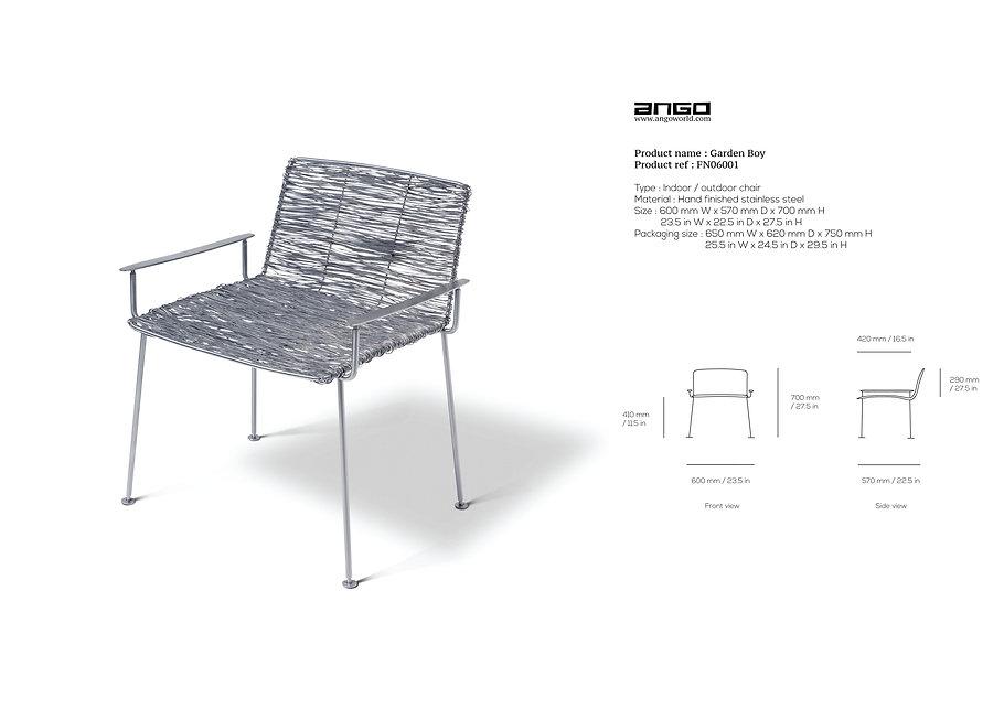 Stainless steel Outdoor chair handmade