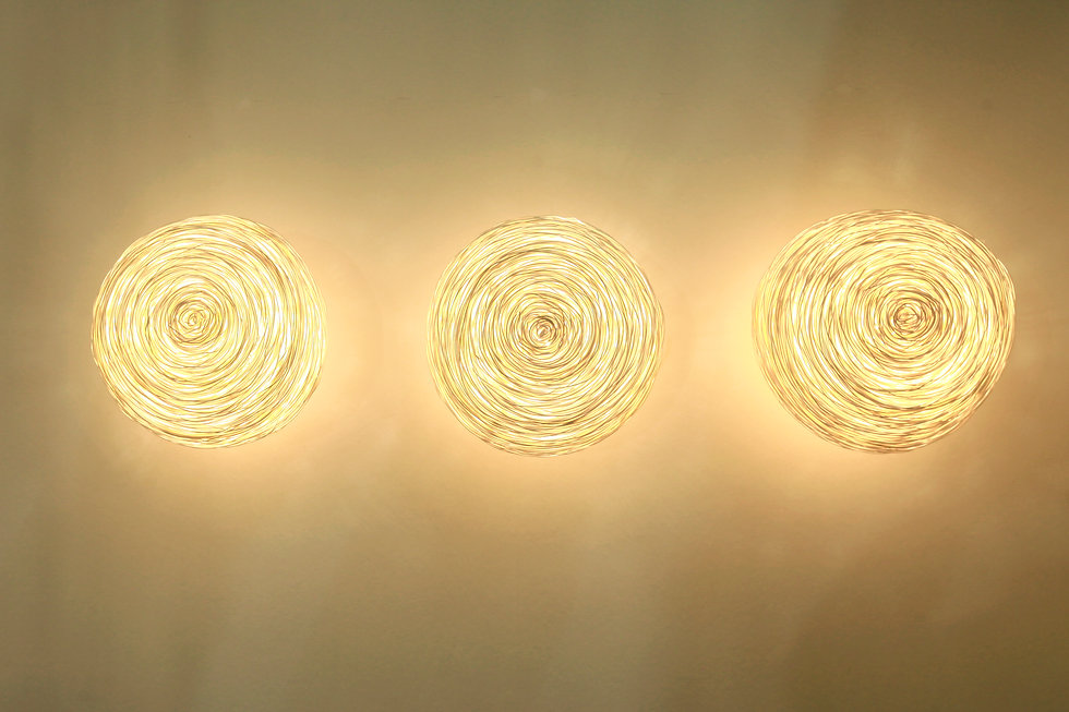 Beautiful rattan wall light