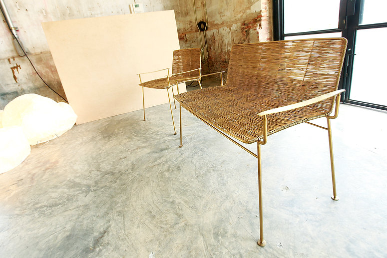 Garden chair in Gold collection