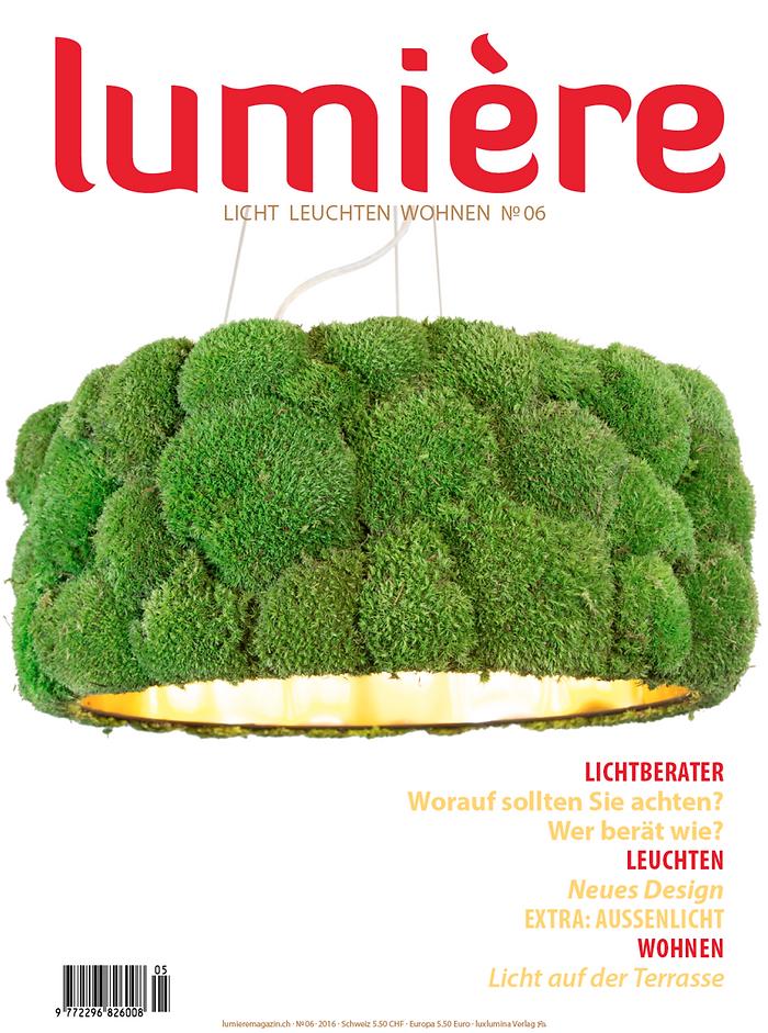 Handcrafted lighting in Switzerlnd living magazine