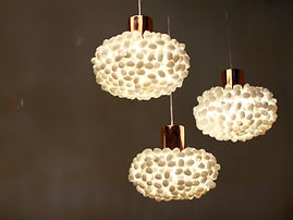 unique ceiling light, rattan pedant, silk cocoon pendant, handcrafted pendant, angolight