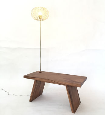 "Furniture design ""Bench with light"" by Ango & Moonler"