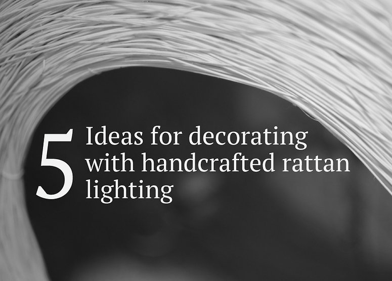 Decorative rattan lighing