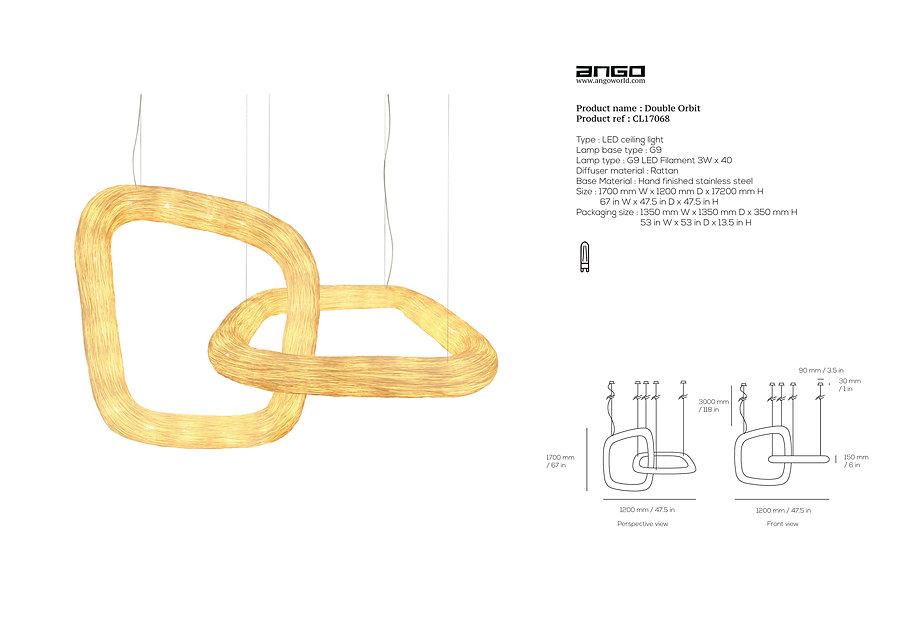 Arcitectonic rattan lighting by Ango