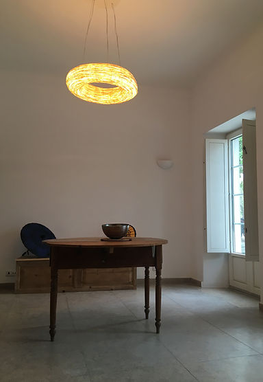 Rattan pendant in Portugal