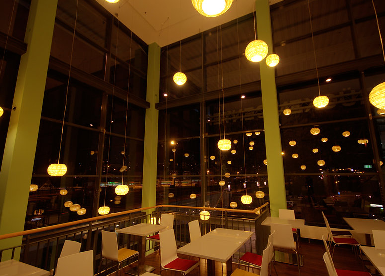 Decorative light for loft space