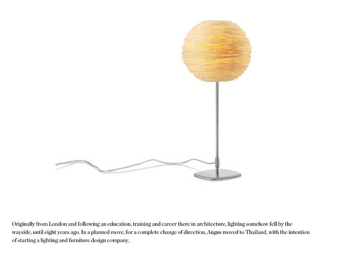 Rattan table light by Ango lighting
