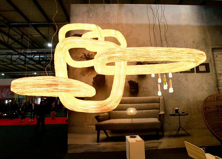 Ango light installation at Milan fair, Euroluce