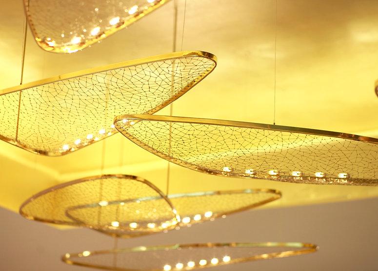 Lighting installation at Louis Vuitton shop in Emporium, Bangkok