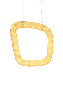 Rattan handcrafted lighting by Ango