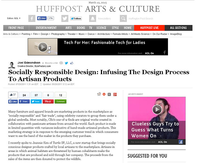 Huffingtonpost features silk cocoon light created by Ango