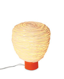 Small handcrafted rattan table light