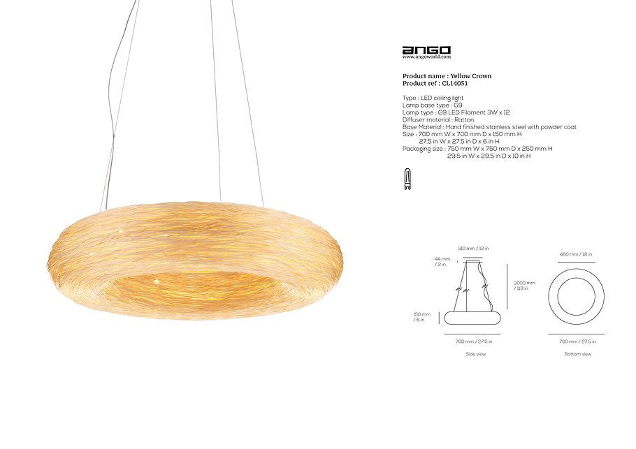 Rattan ceiling light