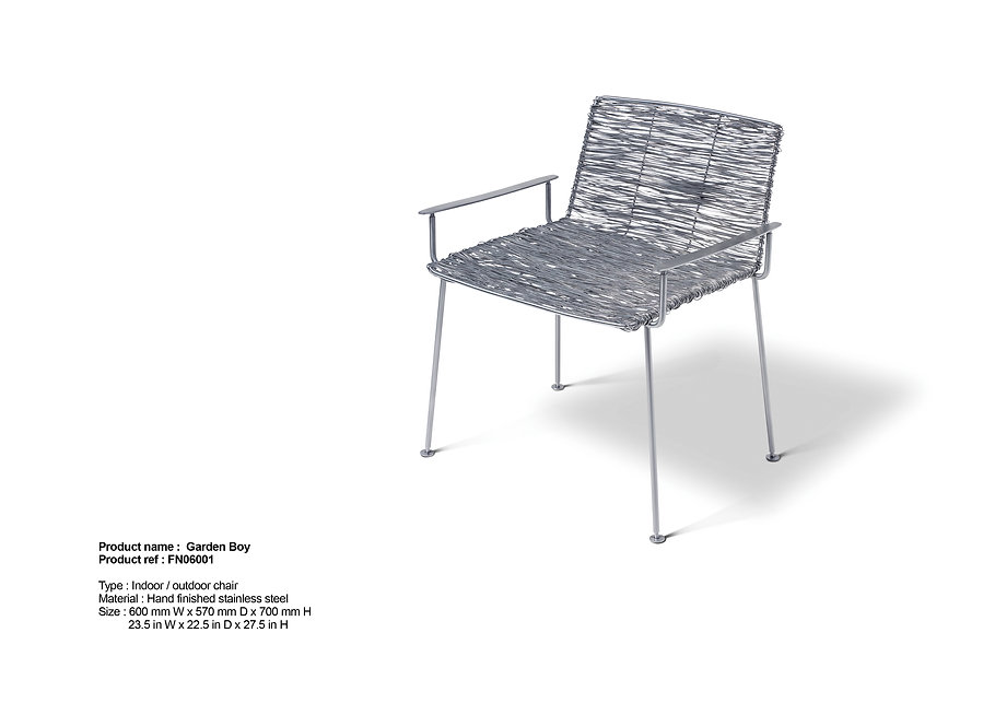 stainless steel chair