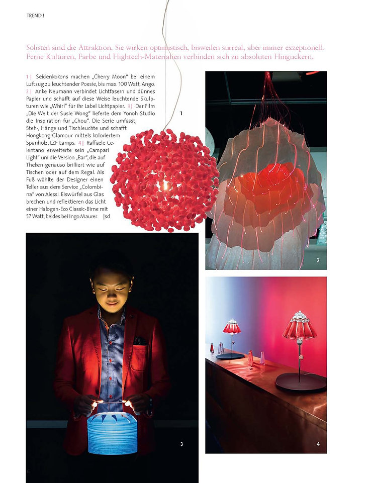Silk cocoon (red) lighting