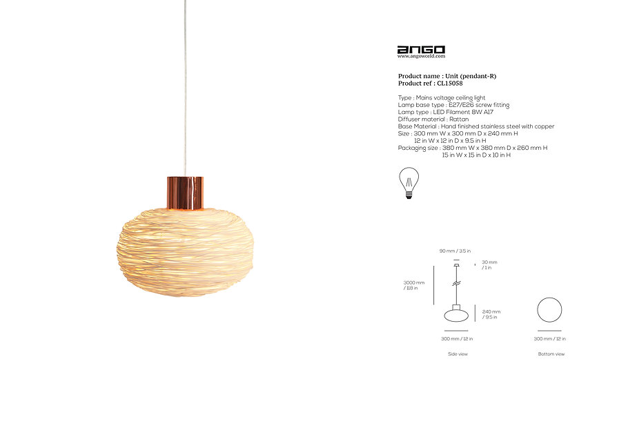 Rattan pendant with unique design