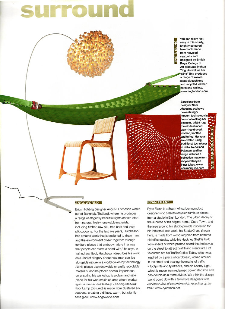 Stylis silk cocoon floor light by Ango feature in Urbis magazine