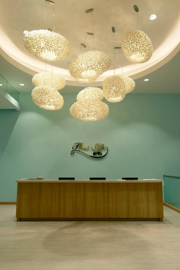 Silkworm cocoon chandelier lamp