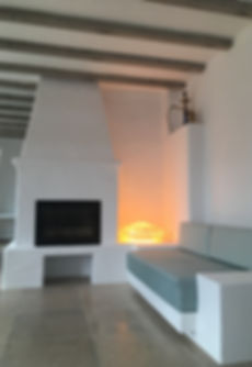 Rattan light at House in Portugal