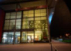 Decorative light at Brucken center in Germany