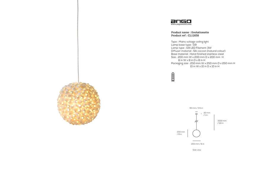 Unique silk cocoon pendant by Ango
