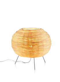Rattan table light inspired by bird nest