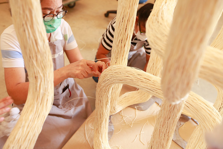 rattan handcrafted light by Ango