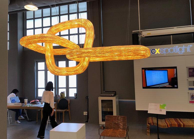 Light installation showcase at Bangkok Design Week