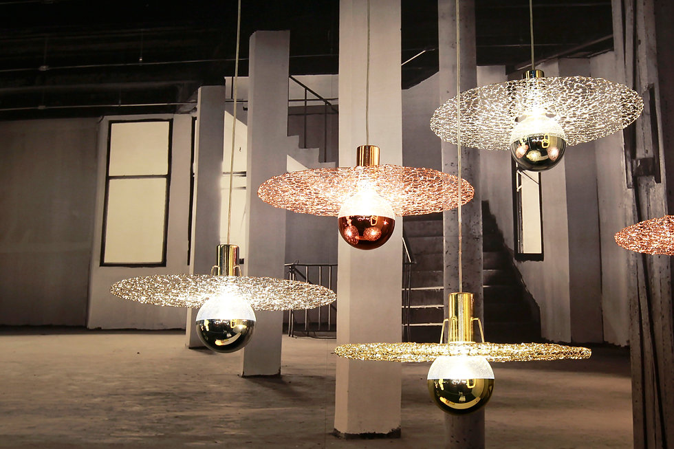 Auroral is shown in Euroluce, the International Lighting Exhibition, Milan, Italy