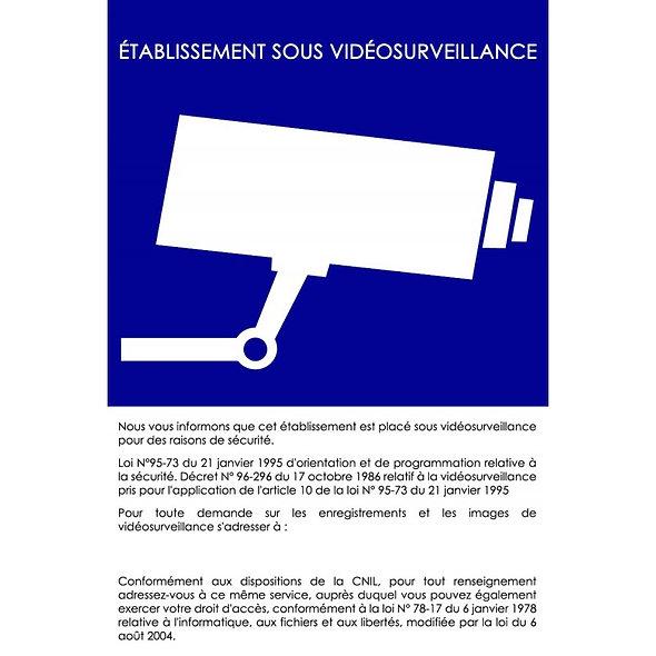 Affiche d'installation de vidéosurveillance