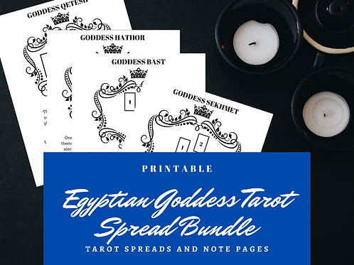 Egyptian Goddess Tarot Spreads Bundle