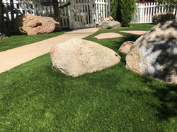 Turf and boulders