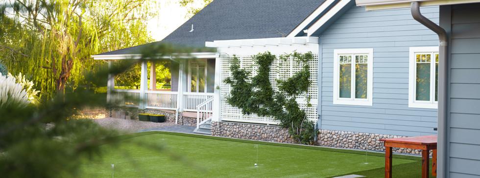 Complete backyard landscape