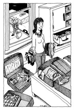 Woman Packing/Odd Couple