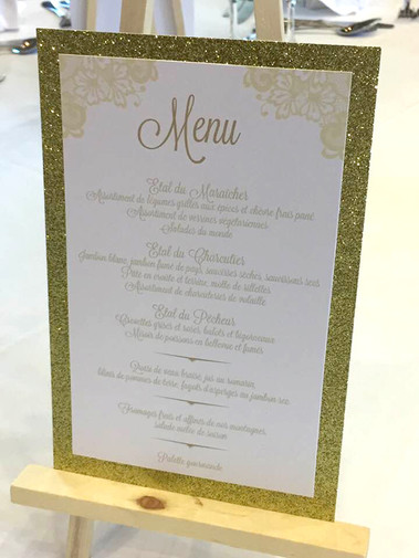Menu de table