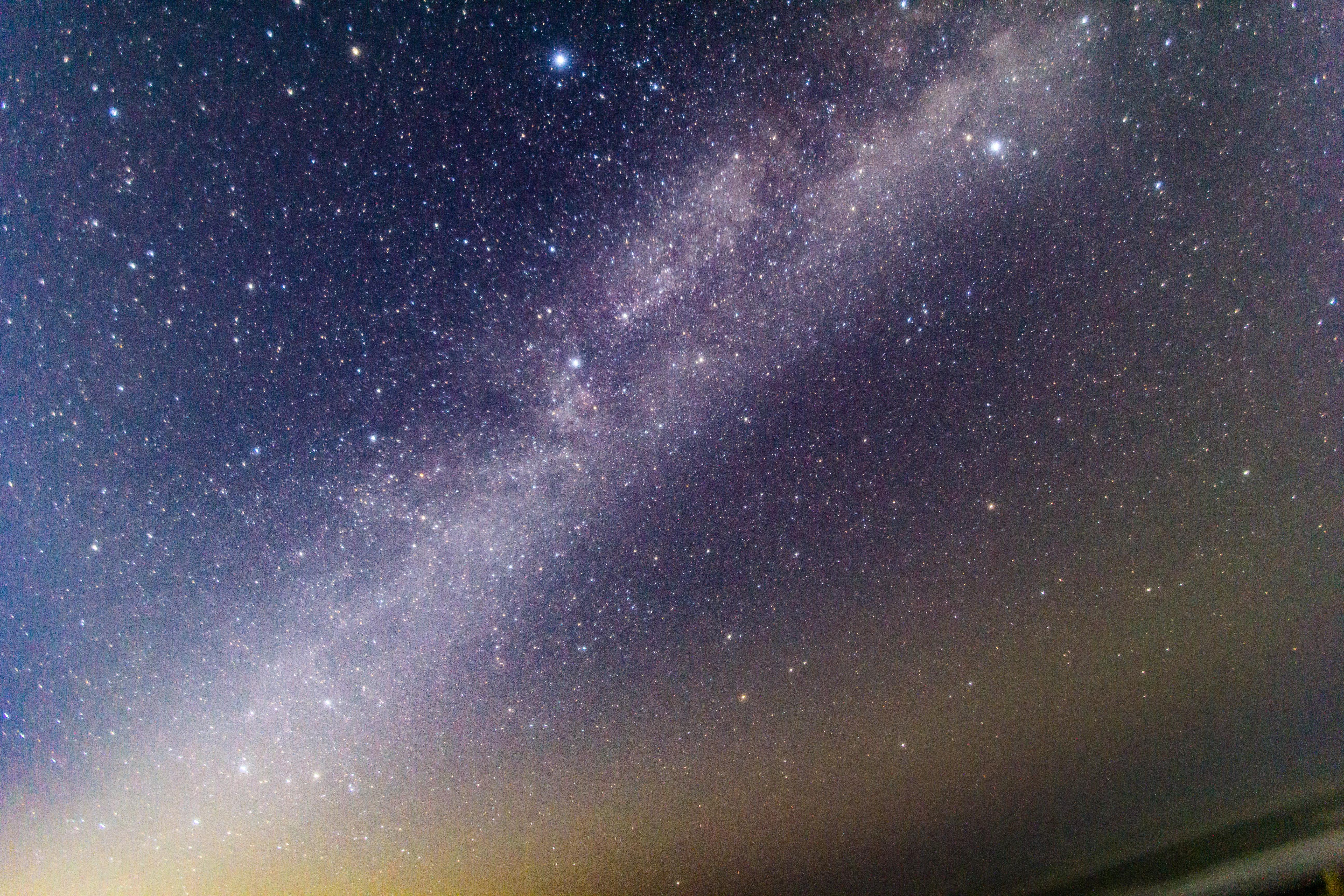 天文薄明と天の川