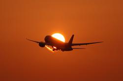 飛行機日食