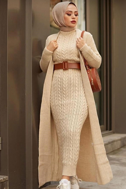 Knitted Co-ord with Cardi