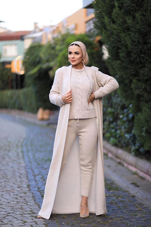 3 Piece Knitted Cardi, Top and Trousers