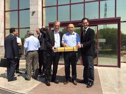 TAGEM Daire Başkanı Bülent Sönmez & Prof. Dr. idris Bahçeci imza töreni sonrasıü