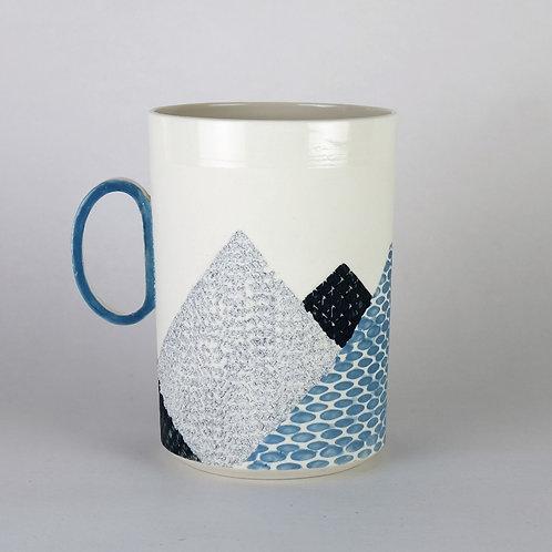Maxi mug Bleu/Noir