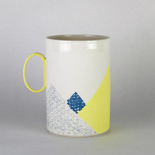 Maxi mug Jaune/Bleu