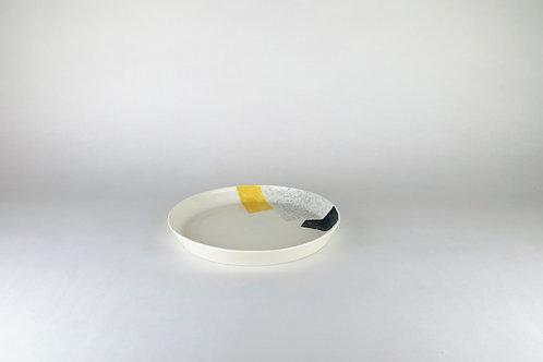 Petite assiette Ocre/Vert-sapin