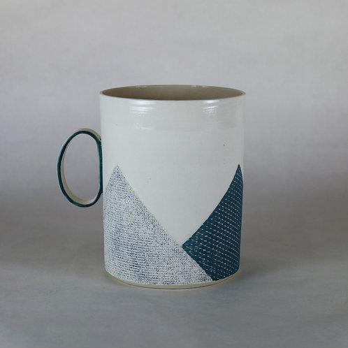Maxi mug Bleu/Bleu-vert
