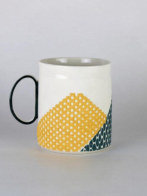Mug Ocre/Vert sapin