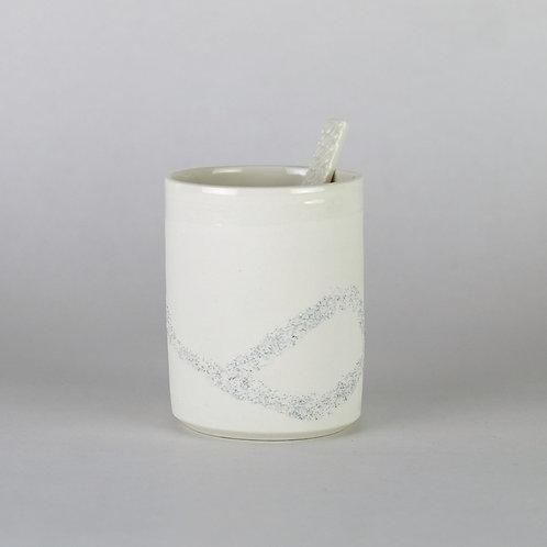 Tasse à café Blanc pailleté