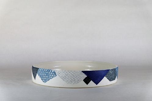 Plat Cobalt/Gris/Bleu