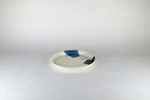 Petite assiette Bleu/Noir