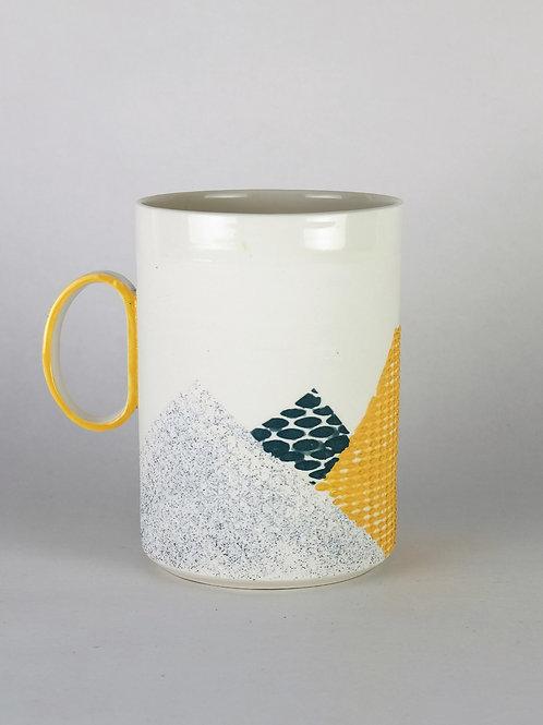 Maxi mug Ocre/Vert sapin