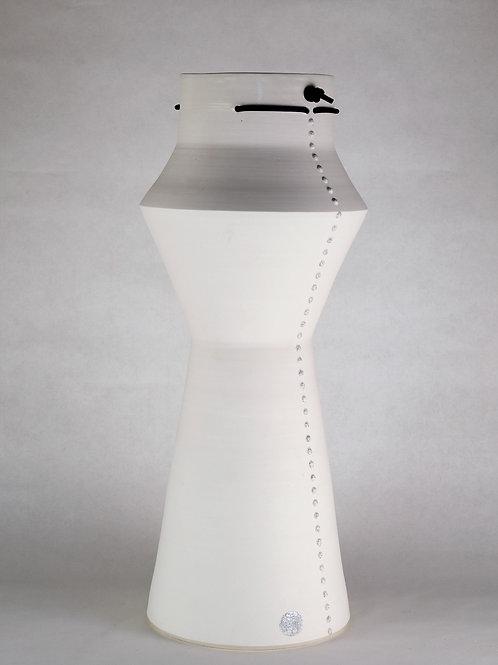 Grand vase Extension Blanc pailletté